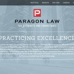 paragon law informational WordPress site