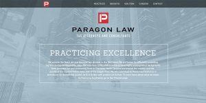 paragon law informational WordPress site